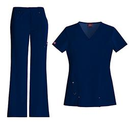 Dickies Xtreme Stretch Women's 82851 V-Neck Top & 82011 Draw