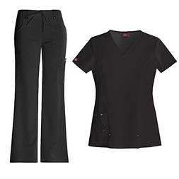 Dickies Xtreme Stretch Women's V-Neck Scrub Top 82851 & The