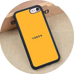 crazy-shop Yellow Aesthetic Printed Soft Rubber Mobile Phone